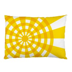 Weaving Hole Yellow Circle Pillow Case (two Sides) by Alisyart