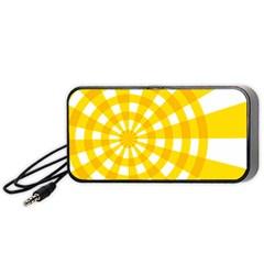 Weaving Hole Yellow Circle Portable Speaker (black) by Alisyart