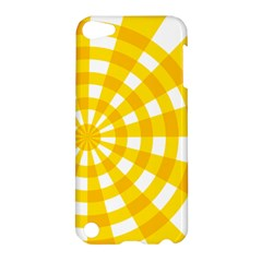Weaving Hole Yellow Circle Apple Ipod Touch 5 Hardshell Case by Alisyart