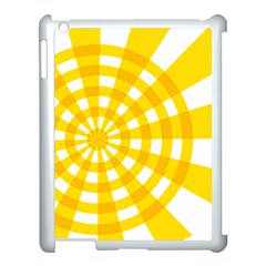 Weaving Hole Yellow Circle Apple Ipad 3/4 Case (white) by Alisyart