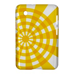 Weaving Hole Yellow Circle Samsung Galaxy Tab 2 (7 ) P3100 Hardshell Case