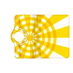 Weaving Hole Yellow Circle Kindle Fire Hd (2013) Flip 360 Case by Alisyart