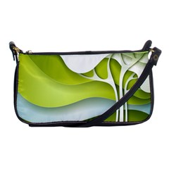 Tree Wood  White Green Shoulder Clutch Bags by Alisyart