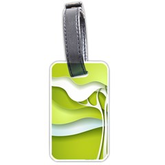 Tree Wood  White Green Luggage Tags (two Sides) by Alisyart