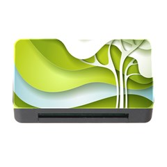 Tree Wood  White Green Memory Card Reader With Cf by Alisyart