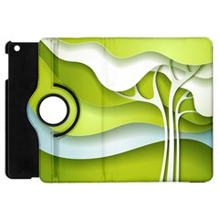 Tree Wood  White Green Apple Ipad Mini Flip 360 Case by Alisyart