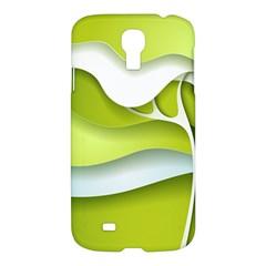 Tree Wood  White Green Samsung Galaxy S4 I9500/i9505 Hardshell Case by Alisyart