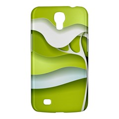 Tree Wood  White Green Samsung Galaxy Mega 6 3  I9200 Hardshell Case by Alisyart