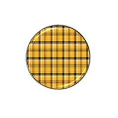 Plaid Yellow Line Hat Clip Ball Marker (4 Pack) by Alisyart