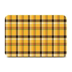 Plaid Yellow Line Plate Mats by Alisyart