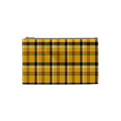 Plaid Yellow Line Cosmetic Bag (small)  by Alisyart