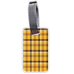 Plaid Yellow Line Luggage Tags (two Sides) by Alisyart