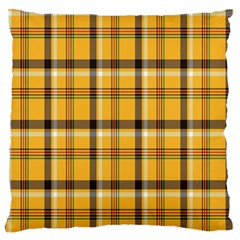 Plaid Yellow Line Large Cushion Case (two Sides) by Alisyart
