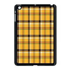Plaid Yellow Line Apple Ipad Mini Case (black) by Alisyart