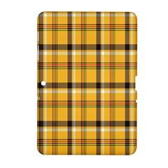 Plaid Yellow Line Samsung Galaxy Tab 2 (10 1 ) P5100 Hardshell Case  by Alisyart