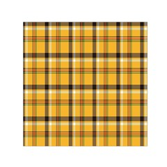 Plaid Yellow Line Small Satin Scarf (square) by Alisyart