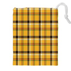 Plaid Yellow Line Drawstring Pouches (xxl) by Alisyart
