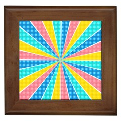 Rhythm Heaven Megamix Circle Star Rainbow Color Framed Tiles by Alisyart