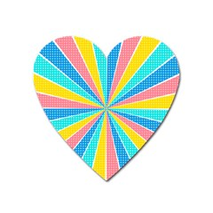 Rhythm Heaven Megamix Circle Star Rainbow Color Heart Magnet by Alisyart
