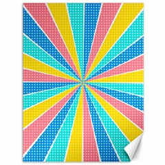 Rhythm Heaven Megamix Circle Star Rainbow Color Canvas 36  X 48   by Alisyart