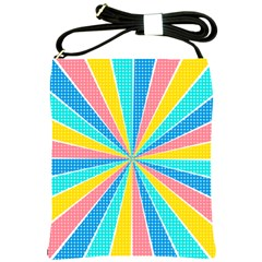 Rhythm Heaven Megamix Circle Star Rainbow Color Shoulder Sling Bags by Alisyart