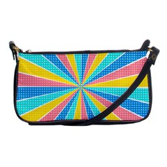 Rhythm Heaven Megamix Circle Star Rainbow Color Shoulder Clutch Bags by Alisyart