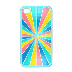Rhythm Heaven Megamix Circle Star Rainbow Color Apple Iphone 4 Case (color) by Alisyart