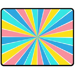 Rhythm Heaven Megamix Circle Star Rainbow Color Double Sided Fleece Blanket (medium)  by Alisyart