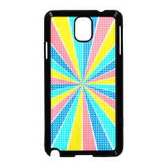 Rhythm Heaven Megamix Circle Star Rainbow Color Samsung Galaxy Note 3 Neo Hardshell Case (Black) by Alisyart