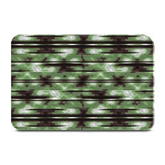 Stripes Camo Pattern Print Plate Mats by dflcprints
