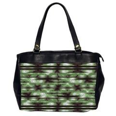 Stripes Camo Pattern Print Office Handbags (2 Sides)  by dflcprints