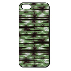 Stripes Camo Pattern Print Apple Iphone 5 Seamless Case (black) by dflcprints