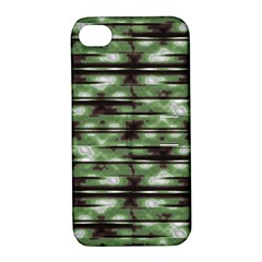 Stripes Camo Pattern Print Apple Iphone 4/4s Hardshell Case With Stand by dflcprints
