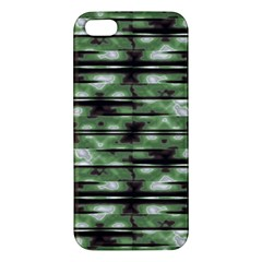 Stripes Camo Pattern Print Apple Iphone 5 Premium Hardshell Case by dflcprints