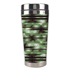 Stripes Camo Pattern Print Stainless Steel Travel Tumblers by dflcprints