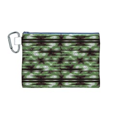 Stripes Camo Pattern Print Canvas Cosmetic Bag (m) by dflcprints