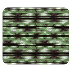 Stripes Camo Pattern Print Double Sided Flano Blanket (small)  by dflcprints