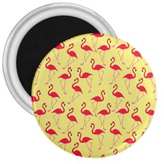 Flamingo Pattern 3  Magnets by Valentinaart