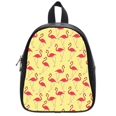 Flamingo Pattern School Bags (small)  by Valentinaart