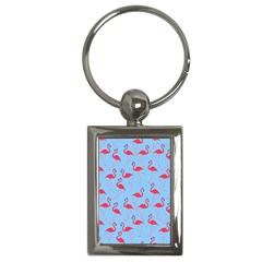 Flamingo Pattern Key Chains (rectangle)  by Valentinaart