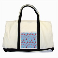 Flamingo Pattern Two Tone Tote Bag by Valentinaart