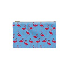 Flamingo Pattern Cosmetic Bag (small)  by Valentinaart