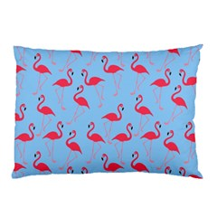 Flamingo Pattern Pillow Case (two Sides) by Valentinaart