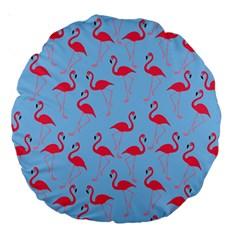 Flamingo Pattern Large 18  Premium Round Cushions by Valentinaart