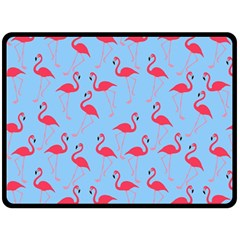 Flamingo Pattern Double Sided Fleece Blanket (large)  by Valentinaart