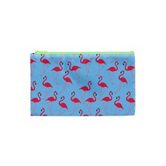 Flamingo Pattern Cosmetic Bag (xs) by Valentinaart