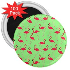 Flamingo Pattern 3  Magnets (100 Pack) by Valentinaart