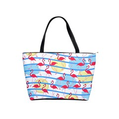 Flamingo Pattern Shoulder Handbags by Valentinaart