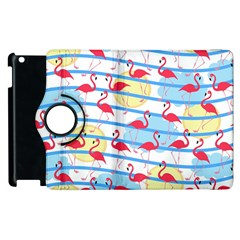 Flamingo Pattern Apple Ipad 2 Flip 360 Case by Valentinaart