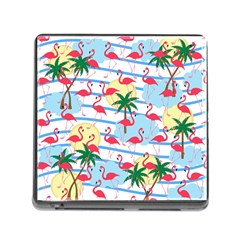 Flamingo Pattern Memory Card Reader (square) by Valentinaart
